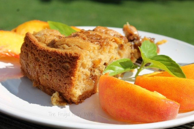 Easy Peach Cobbler Coffee Cake
