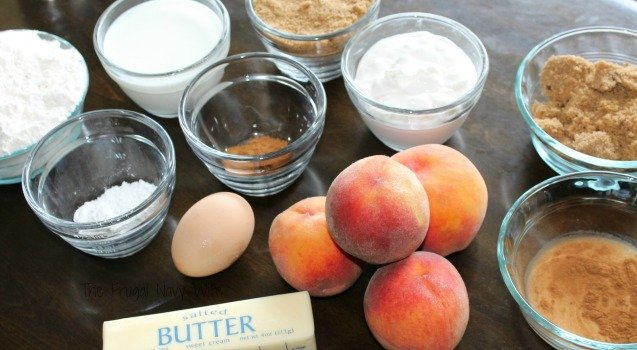 Easy Peach Cobbler Cinnamon Coffee Cake Ingredients