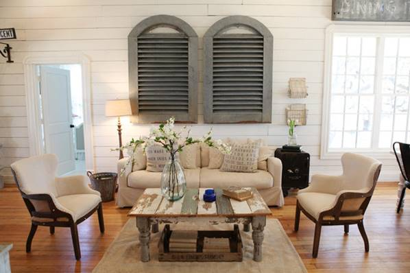 Farmhouse Living Room - Fixer Upper HGTV Living Room Designer Room