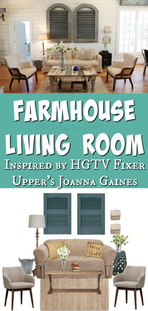 Farmhouse Living Room - Fixer Upper HGTV Living Room Long