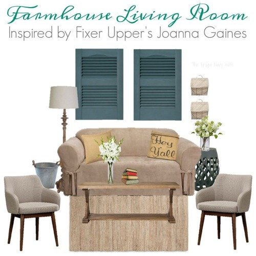 Farmhouse Living Room - Fixer Upper HGTV Living Room