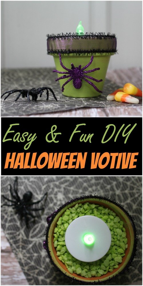 Easy DIY Halloween Votive Holders