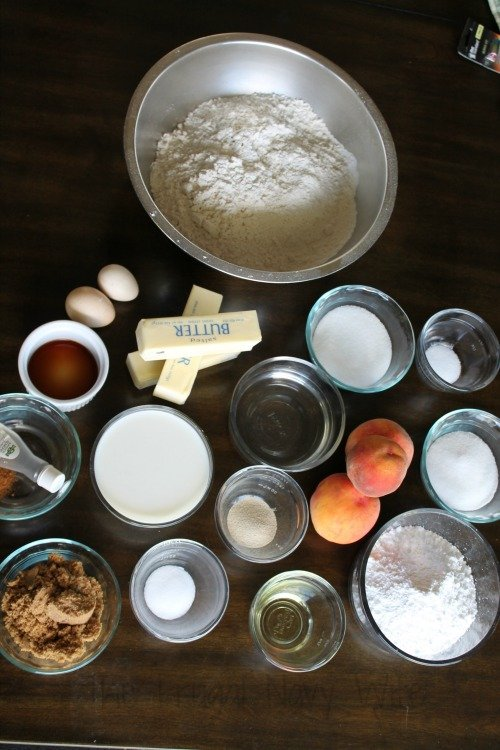 Amazing Peach Cinnamon Rolls Recipes Ingredients