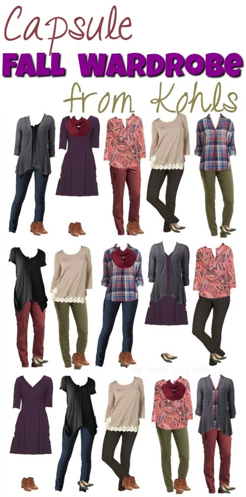 Looking to get some great fall fashion into your wardrobe? Consider and fall capsule wardrobe, 13 pieces will make 15 outfits!