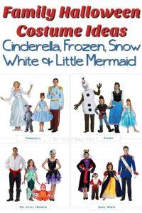 Disney Family Halloween Costume Ideas – Cinderella, Frozen, Snow White & Little Mermaid