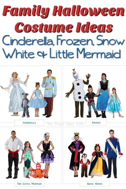 Disney Family Halloween Costume Ideas – Cinderella, Frozen, Snow White & Little Mermaid