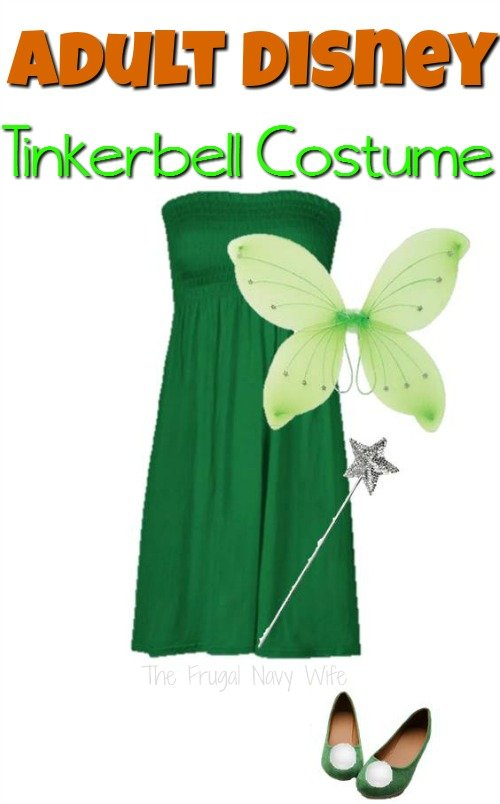 If you are a Tinkerbell fan you won't want to miss this! This Disney adult Tinkerbell costume is the perfect fairy costume for any Disney Fan!