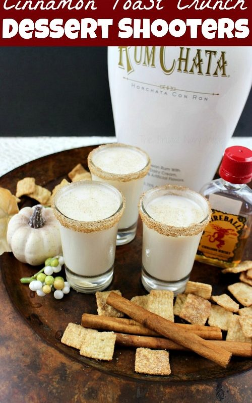 Cinnamon Toast Crunch Shooters Dessert Drink