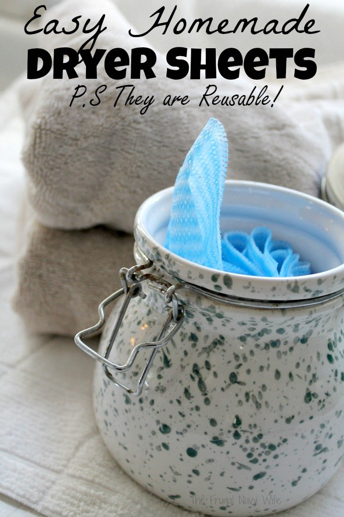 Save money on your laundry bill with a few of these great tips and by making these easy homemade dryer sheets, and they are reusable.