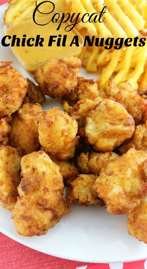 If you family loves heading to Chick Fil A as much as mine you are probably looking for this Copycat Chick Fil A Chicken Nuggets Recipe it includes the secret ingredient the real ones do!