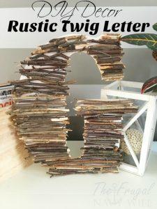 DIY Decor – Easy Twig Letter Decor