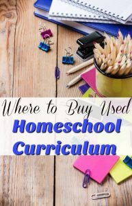 My Top Places to Buy Used Homeschool Curriculum