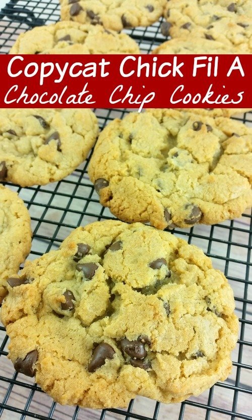 Are you looking for the best copycat Chick Fil A recipes? These Chocolate Chip Chick Fil A Cookies are amazing and so easy!