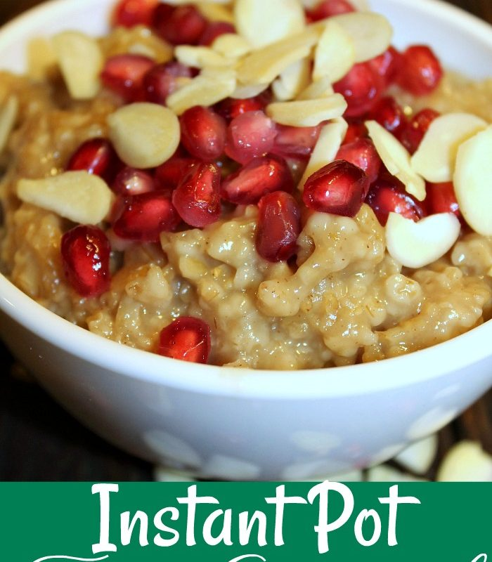 Instant Pot Oatmeal With Fruit