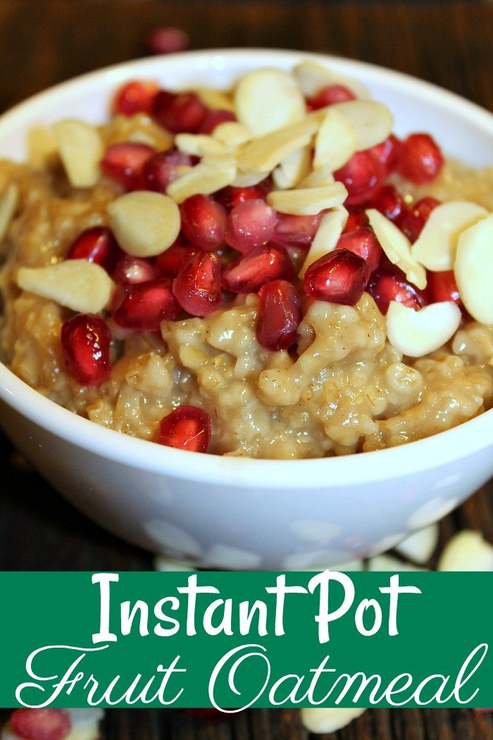 Looking for a great easy breakfast that also makes a great breakfast for dinner then this Instant Pot Oatmeal is for you!