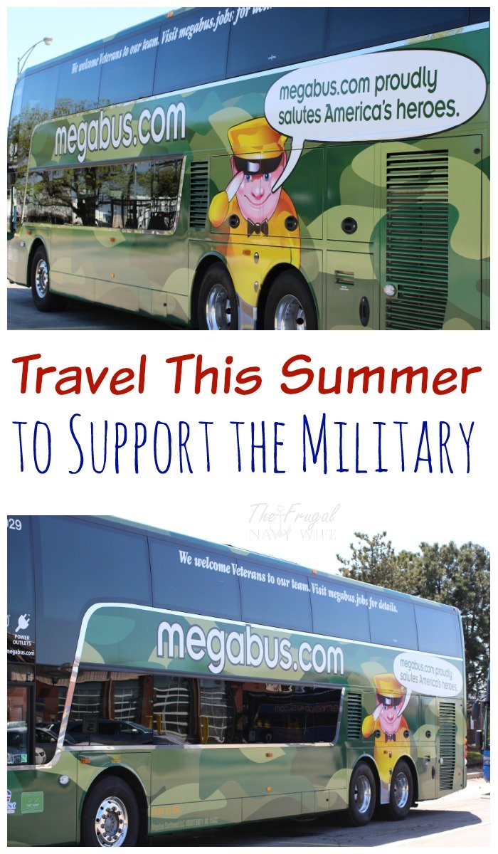 Did you know that by using the Camo Bus for your summer travel you can help support the military? This is why we love MegaBus!