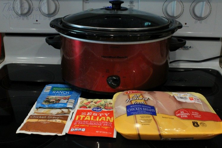 If you are looking for a super easy weeknight meal this 3 envelope slow cooker chicken recipe is perfect PLUS it is a great frugal recipe too!