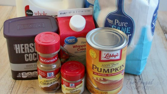 Pumpkin Spice Hot Chocolate is a delicious fall treat for all to enjoy. Sweet and decadent it will surely warm you from head to toe on a cool fall day. #pumpkinspice #pumpkinrecipe #hotchocolate #frugalnavywife | Hot Chocolate Recipes | Pumpkin Spice Recipes | Pumpkin Recipes | Fall Recipes | Hot Drink Recipes | Drinks |