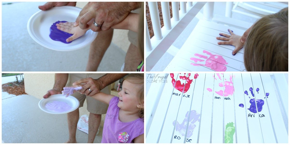 If you are looking for a great gift to give to the grandparents this DIY via Operation Rocker takes only about 15 minutes and they will love it!