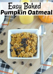 The Perfect Baked Pumpkin Oatmeal For A Fall Morning!