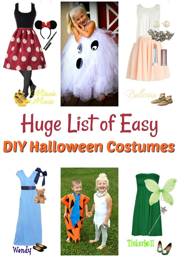 Looking for the best DIY Halloween Costumes? This is the list you need, from Disney Costumes to DIY costumes for adults and of course costumes for kids.