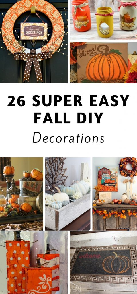 Fall is my favorite season. I like to stock up on fall decor because it can also be used for Halloween and Thanksgiving. Enjoy these DIY Fall Decor ideas. #fall #diy #decorations #falldecor #diydecor #frugaldecor #frugalnavywife | Fall Decorations | DIY Decorations | Frugal DIY | Halloween Decorations | Thanksgiving Decorations |
