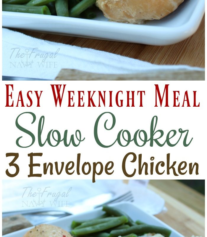 Super Easy Weeknight Meal – 3 Envelope Slow Cooker Chicken Recipe