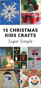 Keeping kids busy when it's cold outside is a task on its own! These 15 easy kids Christmas Crafts double as great gifts as well as decor! #christmas #kidscrafts #kidsactivities #frugalnavywife | Christmas | Kids Crafts for Christmas | Simple Kids Christmas Crafts | Christmas Crafts for Kids