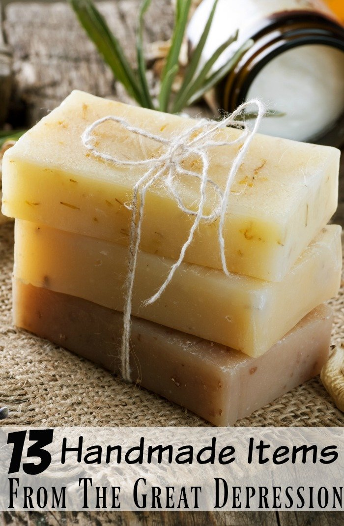 soap is a handmade item from the great depression