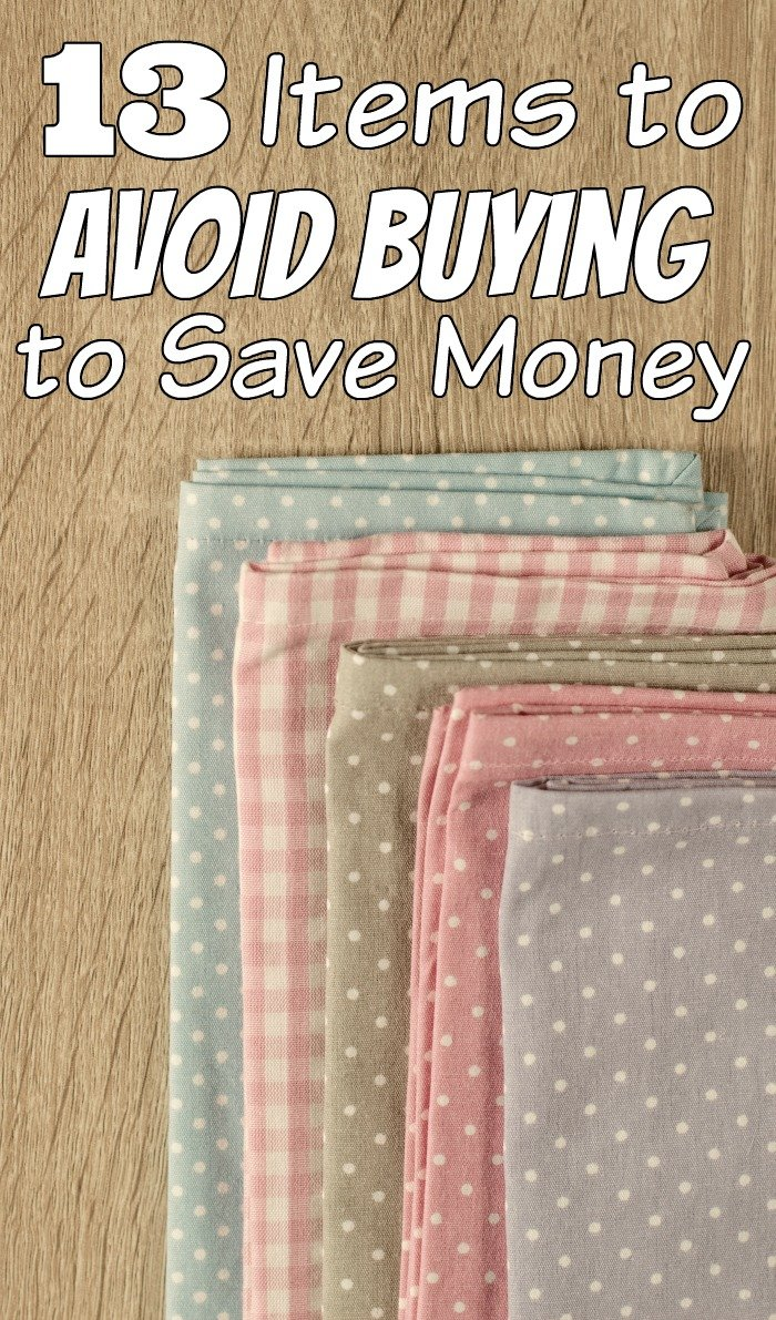 When you are at the store make sure you avoid these 13 items to save money. #SaveMoney #FrugalNavyWife #SavingMoney #FrugalLiving #FrugalLivingTips #frugallifestyle #budget #budgeting #budgetfriendly #shoppingtips #shoppingtipsandtricks #SavingMoneyHacks