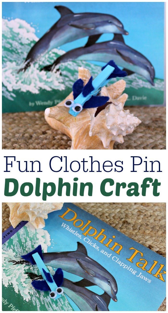 Fun Clothes Pin Dolphin Craft