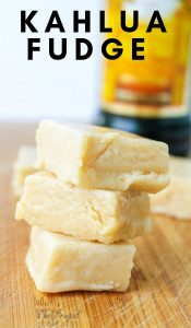 We love making this easy Kahlua fudge recipe all year long. It makes a great gift for neighbors or for an adult party. Never lasts long so make a double! #recipe #dessert #fudge #frugalnavywife | Fudge Recipe | Dessert Recipe | Candy Recipe | Christmas Fudge |