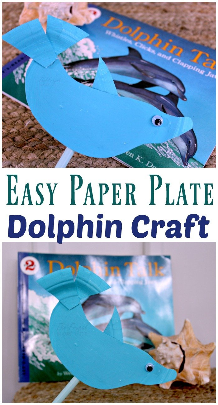Easy paper plate dolphin craft.