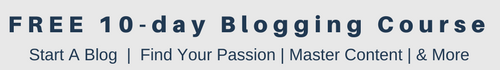 Free 10-day blogging course banner
