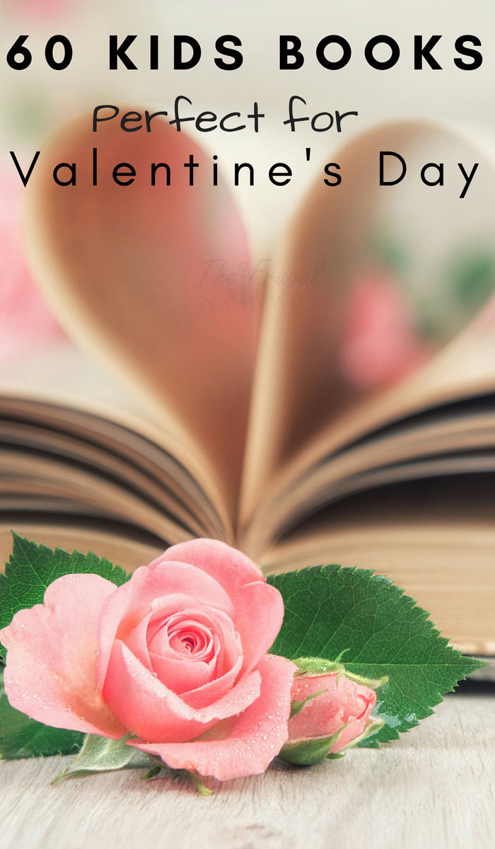 Book pages in a heart and a pink rose. Valentine's Day books for kids