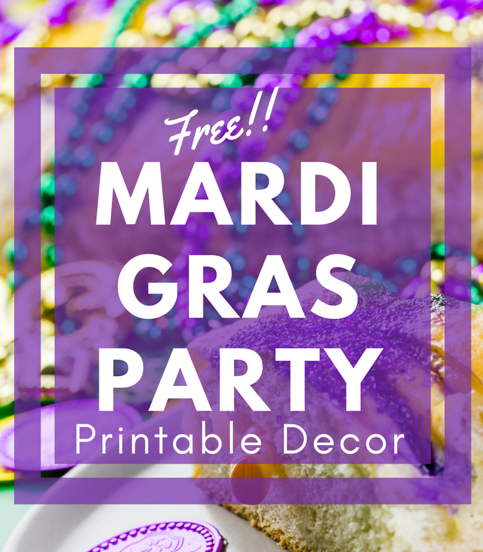 Mardi Gras Party Ideas + Free Mardi Gras Printable Decor!