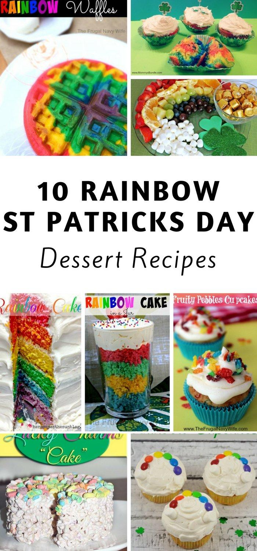 Rainbow st patricks day dessert recipes