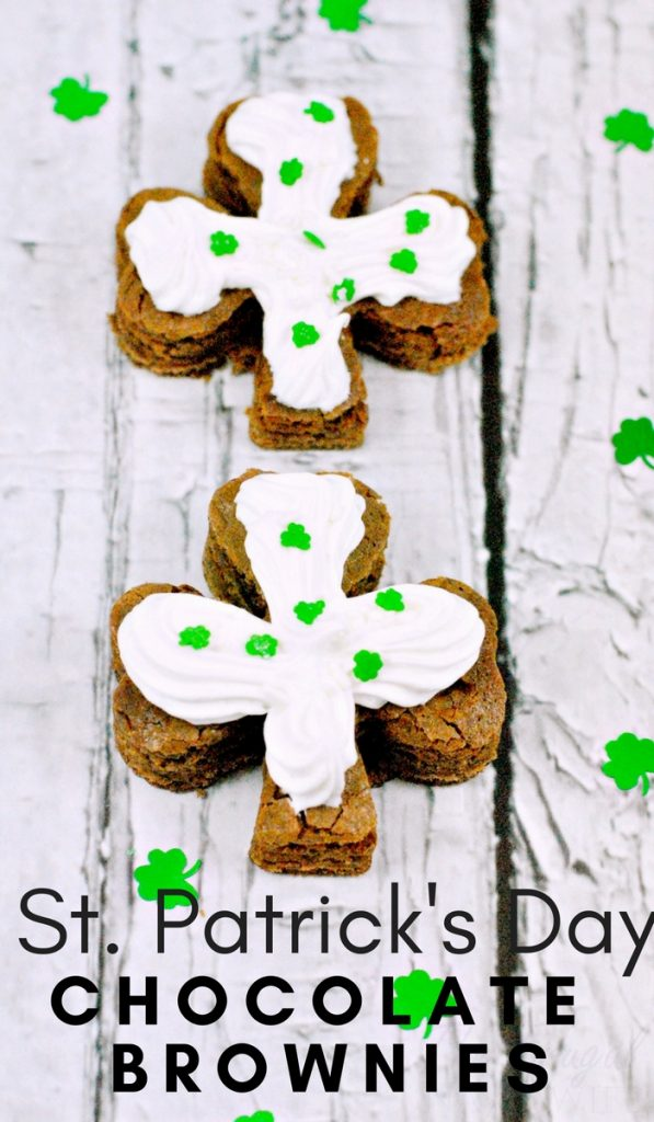 St. Patrick's Day Shamrock Chocolate Brownies