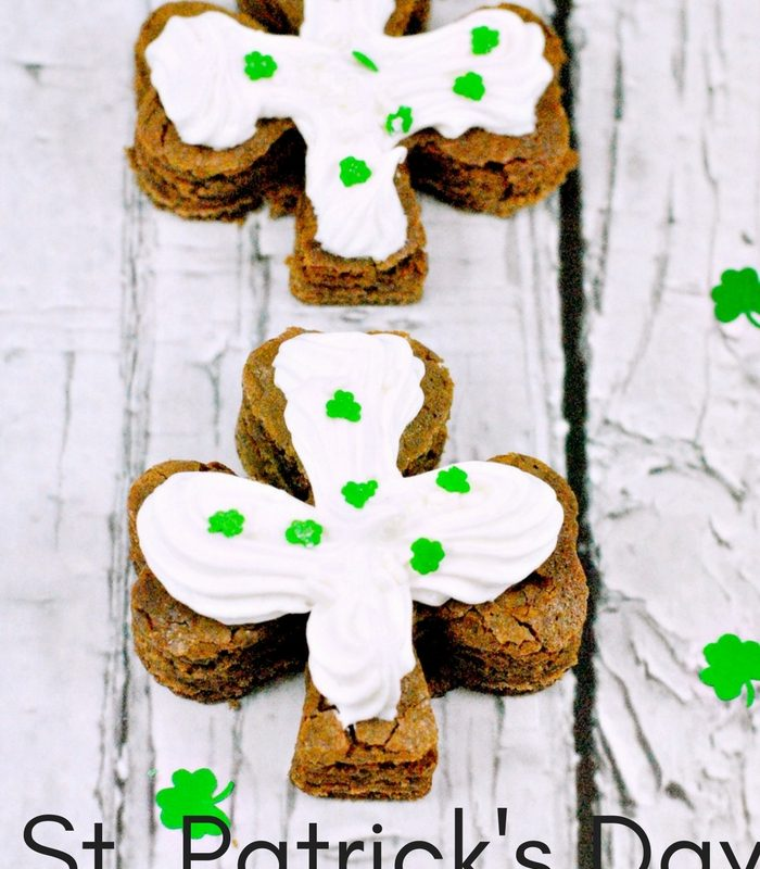 St. Patrick's Day Shamrock Chocolate Brownies Recipe