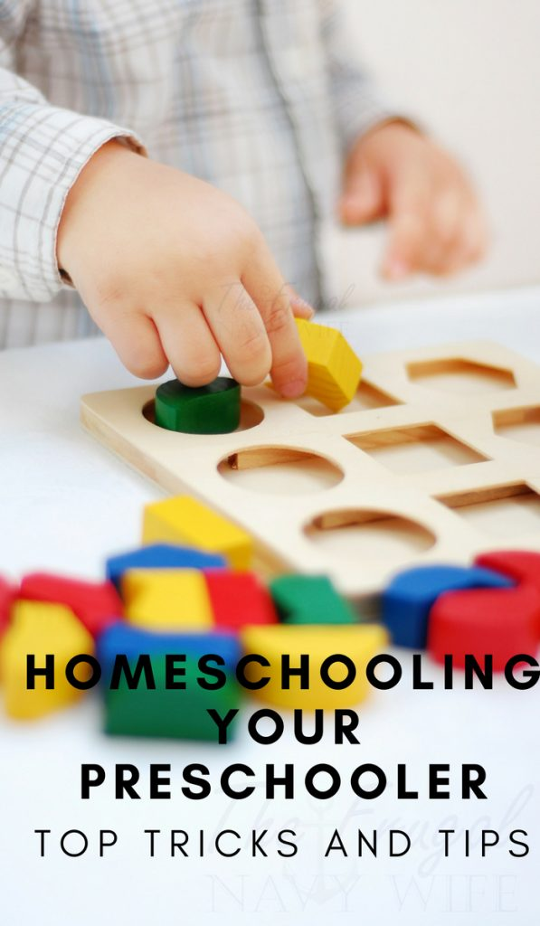 Give your child some undivided attention in the form of play-based learning. Here are my top tips and tricks to homeschooling your preschooler. #homeschooling #preschool #education #thefrugalnavywife | Homeschool Tips | Homeschooling Tricks | Preschooler Activities | Teaching Preschool |
