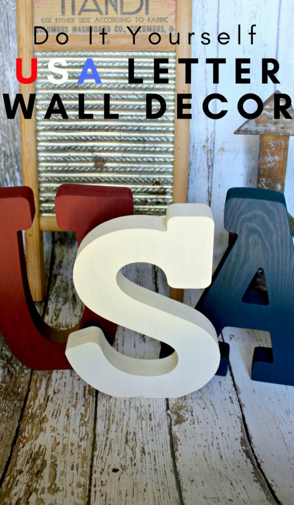 DIY USA Letter Wall Decor