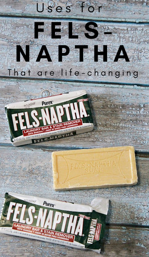 This little bar of soap will change your life. It's so inexpensive, but you can use it for so many things. Check out these uses for Fels Naptha that are life-changing. #frugalliving #upcycle #thefrugalnavywife #felsnaptha | Uses for | Fugal Living | Fels Naptha