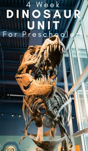 4 Week Preschool Dinosaur Unit Study
