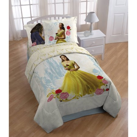 Disneys Beauty and the Beast My Romantic Beauty Kids Twin Polyester Reversible Comforter w/bonus Sham