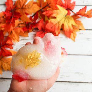 Fall Slime Using Fall Leaves – No Borax!