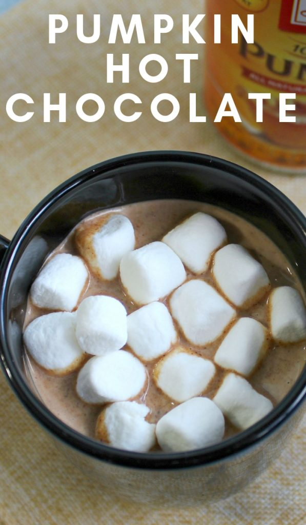 An easy combination of pumpkin and a classic hot chocolate will have you antsy for fall flavors. Make this Pumpkin Hot Chocolate today. #pumpkinrecipes #hotchocolate #drinks #yum #fallrecipes #frugalnavywife | Fall Recipes | Hot Chocolate Recipes | Pumpkin Recipes