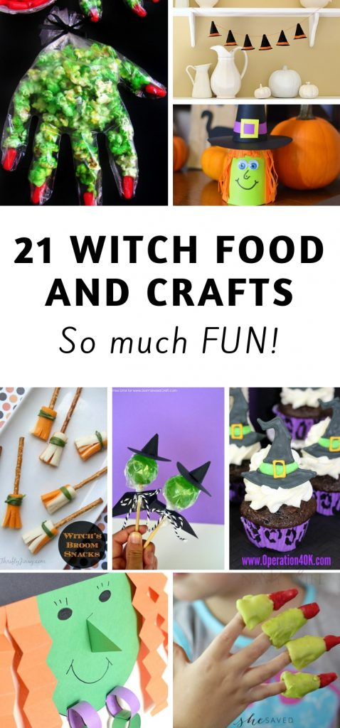 Making witch food and crafts for Halloween is one of my favorite themes to use. Here are 21 Halloween Witch Foods and Crafts for this year. #halloween #witch #halloweencrafts #halloweenfoods #frugalnavywife | Halloween | Halloween Foods | Halloween Crafts | Witch DIYs | Witch Foods | Witch Crafts