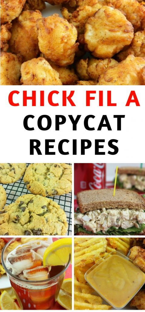 My family loves to eat at Chick Fil A and now we don't have to leave the house to enjoy it. Use a Chick Fil A copycat recipe listed here! #copycatrecipe #chickfila #frugalnavywife #recipes | Copycat Recipes | Chick Fil A Recipes | Chick Fil A Copy Cat Recipes