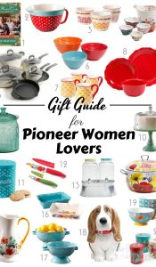 While thinking of gifts this year I made this list of Pioneer Woman Gift Ideas. The Pioneer Woman lover in your life will thank you. #holidaygiftguide #giftguide #frugalnavywife #pioneerwoman | Pioneer Woman Gift Guide | Holiday Gift Guide | Gift Guides |
