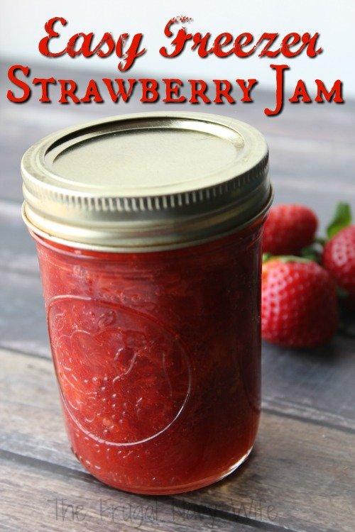 Frugal Recipe - Easy Strawberry Freezer Jam